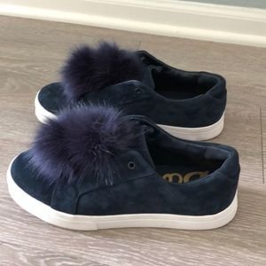 Sam Edelman Navy pom pom sneakers